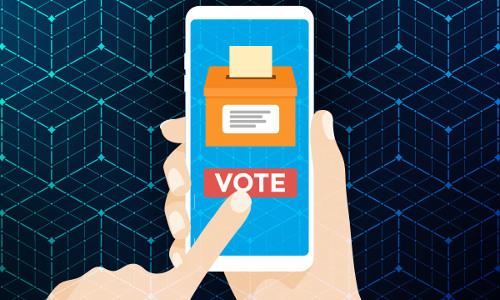 mobile voting app, illustration